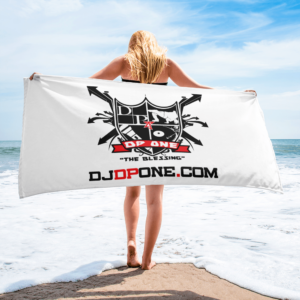 DJDPONE.COM – Beach Towel (White)