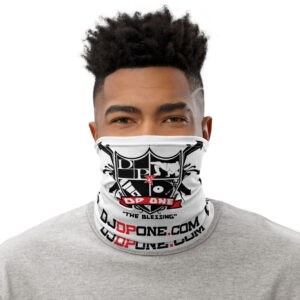 DJDPONE.COM – Neck Gaiter (White)