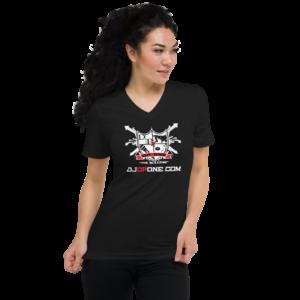 DJDPONE.COM – Unisex Short Sleeve V-Neck T-Shirt